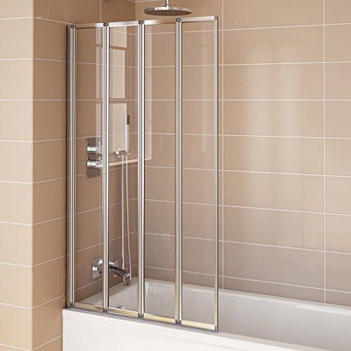 800mm Modern Pivot Folding Bath Shower Glass Screen Reversible Door ...