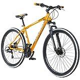 29'MTB Galano Toxic/Pulse Mountain Bike Freins à disque Shimano Tourney, Orange