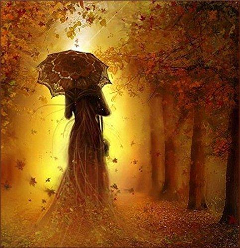 txhf 5D gebohrt Kunstharz Full Diamond Gemälde Bild DIY Kreuzstich Stickerei Strass von Nummer Kits Craft Romantische Mädchen Regenschirm Mädchen 30x 40cm