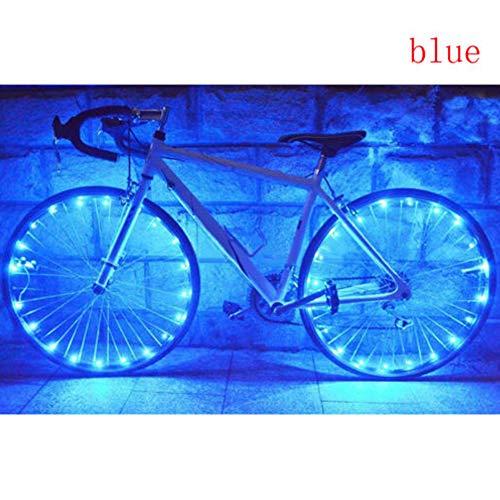 SDGDFXCHN Chaîne de lumière de Roue de vélo-Assortiment de Couleurs vélo Accessoires de Pneu de vélo a parlé lumière