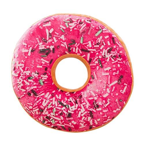 Donuts Housses De Coussin Angelof Coussin En Peluche Moelleux Rembourré Coussins Doux Beignes Housse De Protection Etui Jouets 40 Cm X 40 Cm X 12 Cm (E)