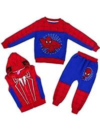 3D Halloween Thema Amazing Spider-Man Kinder Hoodie Marvel Comics Jungen Und Mädchen Pullover Dreiteilige Set