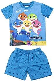 CERDÁ LIFE'S LITTLE MOMENTS Niños Pijama Baby Shark de Verano de Color Azul-Licencia Oficial Nickelo