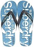 Superdry SCUBA GRIT FLIP FLOP Infradito, Uomo, Multicolore (Black/Optic White/Bright Blue W2y), 44-45 EU (L UK)