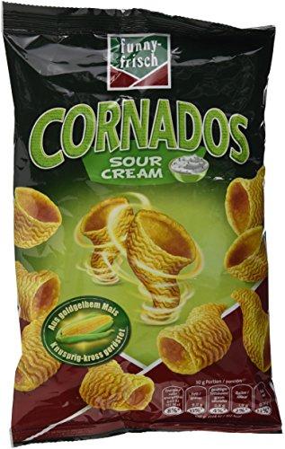 funny-frisch  Cornados Sour Cream, 80 g (Natürlichen Alle Mais-chips)