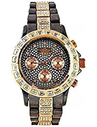 5fe588d6ab2 Softech Diamante Dial   Bracelet Designer Bronze   Rose Gold Metal Wrist Watch  With One Extra
