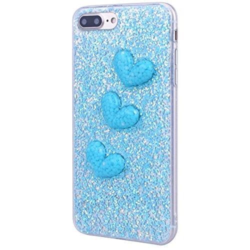 Hülle The Beatles Iphone 7 Plus,Handyhülle Iphone 7 Plus,Weiche Silikon Schutzhülle Tpu Bumper Case The Beatles Für Iphone 7 Plus Blau