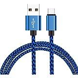 Câble USB Type C,H quadratic Nylon en tressé – Garantie à vie,pour Huawei P9,Nexus 6P,Nexus 5 x,OnePlus 2 Apple Nouveau MacBook,Chromebook Pixel,Nexus 5 x/6P,OnePlus 2/3[Blue]