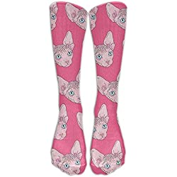 Sphynx Cat Womens Mens Funny Athletic Long Knee High Stockings
