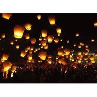 Farolillos voladores Sky Lantern, confección con 20unidades, blancas, linternas chicas