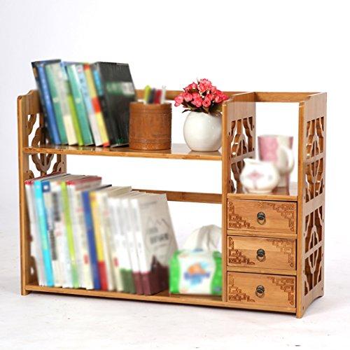 DFHHG® Libro Estante Estante 50 (L) * 25 (W) * 50 (H) Cm 60 * 25 * 50 Cm 70 * 25 * 50 Cm Bambú Antiguo Escritorio Creativo durable ( Color : #1 , Tamaño : 50*25*50cm )