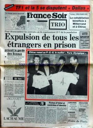 FRANCE SOIR [No 12974] du 29/04/1986 - T...