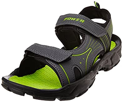 Power Men's Strive Grey Athletic and Outdoor Sandals - 9 UK/India (43 EU)(8612142)