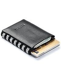 Bestkee Cartera minimalista Slim Wallet para hombres Diseñador con elastico