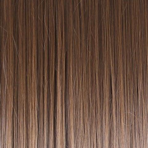 Elementos Biya pelo Thermatt instantánea Bun Cola de caballo de cabello Extensiones de Scrunchie Heterosexual, Dipdye Castaño Castaño Número 2T33