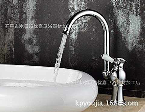 Furesnts Modern home kitchen and bathroom faucet Kitchen Taps wash bowl basin mixer Sink cut hot and cold shower 4114,copper mouthBathroom Sink taps,(Standard G 1/2 universal hose