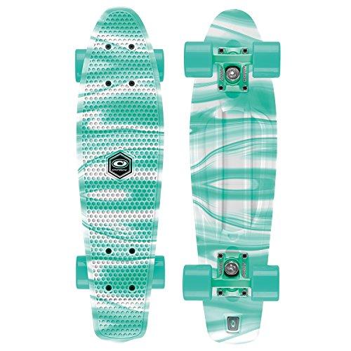 Preisvergleich Produktbild Osprey Unisex komplett Retro Kunststoff Mini Cruiser Skateboard Einheitsgröße Marble - Turquoise