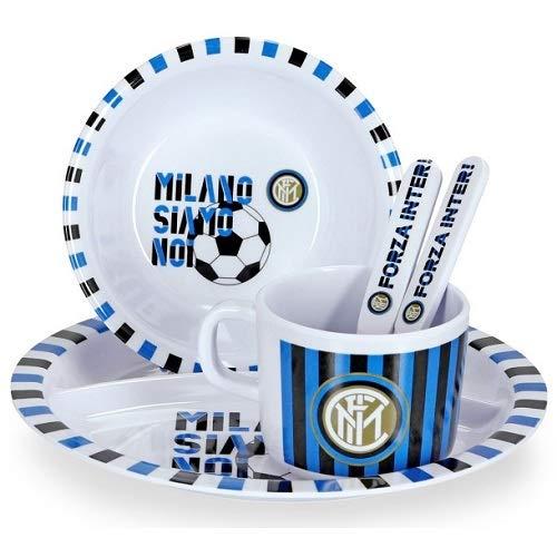 Inter Mailand - 5 teiliges Kinder Melamin Geschirr Set