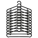 Spruttig confezione da 10grucce in plastica nera e gancio bar fisso gancio Ikea
