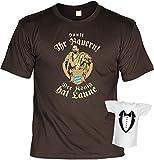T-Shirt Herren Männer braun Größen S- 3XL Cooles Motiv von König Ludwig und Spruch Sauft Ihr Bayern lustiges Funshirt