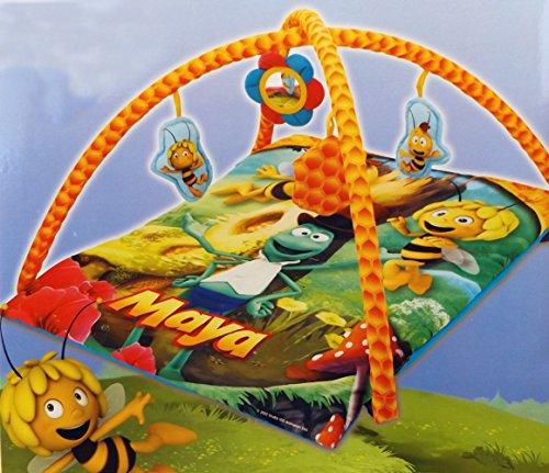 Brigamo 30089 - Biene Maja Erlebnisdecke Krabbeldecke mit farbenfrohen Motiven, Mobile und Spielbogen