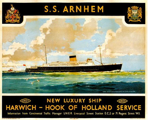 ss-arnhem-new-luxury-ship-harwich-hook-of-holland-service-wonderful-a4-glossyvintage-travel-poster-a