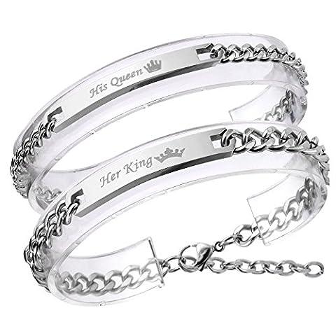 Zysta Bracelet Couple Acier Inoxydable