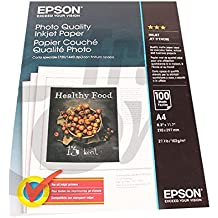 Epson Photo Quality Ink Jet Paper - Papel para impresora de tinta (A4), blanco