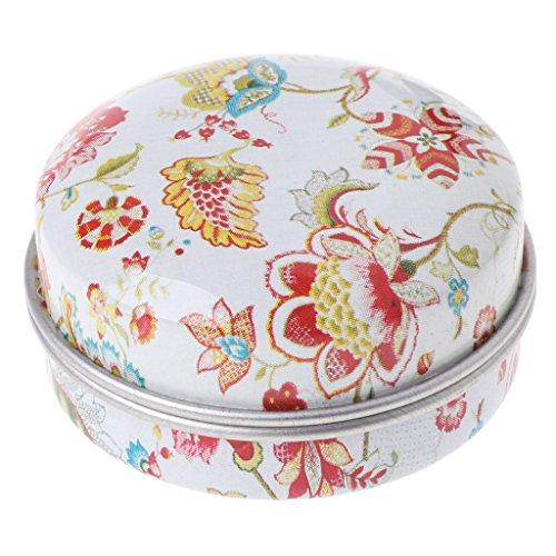Baoyl Pillendose, elegante kleine Aufbewahrungsbox aus Weißblech, für Hochzeiten, Süßigkeiten, Geschenkbox, Schmuck (Karte Sichere Hochzeit Box)