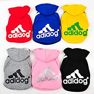 Ducomi® Adidog Hoodie de chien - Sweat a Capuche - Vêtement de Sport pour ton Chiens - Taille à partir de (S à 5XL) et 8 couleurs