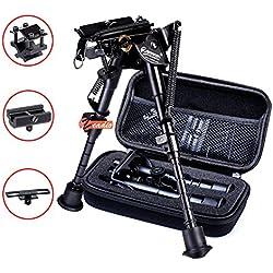 zeadio Bipied pivotant Extensible avec 3 adaptateurs et boîtier de Protection (15 à 23 cm / 6 à 9 Pouces)