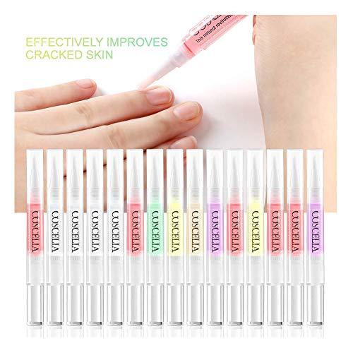 Saint-Acior Nagelhautpflege-Öl 15x Nagelhautöl Nail Art Stift Set Mix Geschmack Nagelöl Nagelpflege Tools