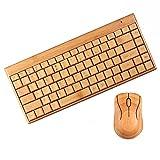 Kleinanzeigen: Umwelt Bambus-Holz-2.4G Wireless Tastatur Maus Laser-Beschri