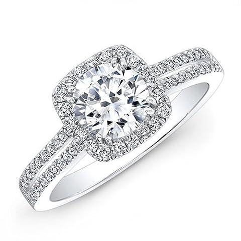1.55 Ct Round Cut Diamond Engagement Wedding Ring 925 Sterling Silver Diamond White Gold Finish Size K L M N O P Q R S T