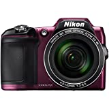 Nikon Coolpix L840 Digitalkamera (16 Megapixel, 38-fach opt. Zoom, 7,6 cm (3 Zoll) LCD-Display, USB 2.0, bildstabilisiert) aubergine