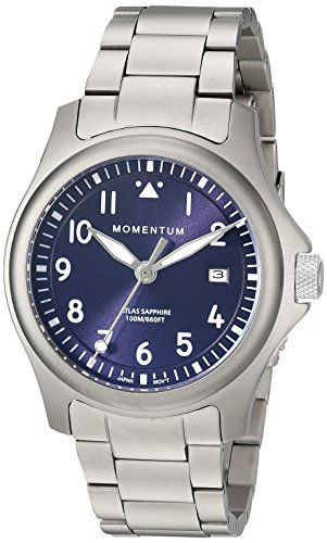 Momentum Men's Quartz Titanium Casual Watch, Color:Grey (Model: 1M-SP00US0)