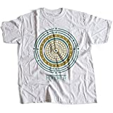 A002-342w Mandala Herren T-Shirt The Life is A Never Ending Journey Quote God Jesus Buddha Faith Religion Cult(Medium,White)