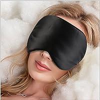 Sel Natural 100% Seide Schlafmaske Für Die Reise und Zuhause Geeignet Schwarz