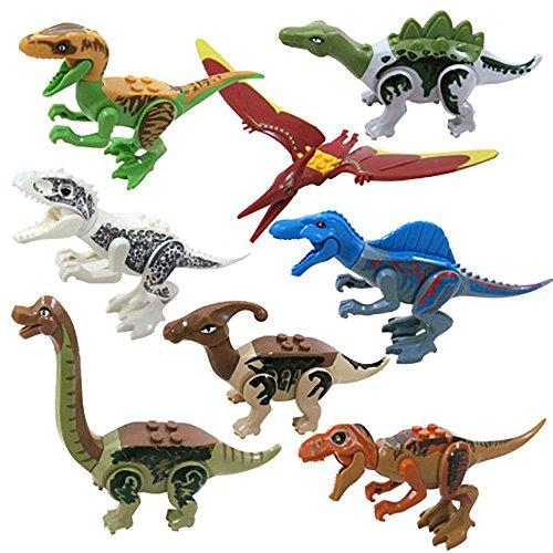Newin Star Dinosaurio de Jurásico Mundo,Dinosaurio de Construcción de juquete,Juego de Dinosaurio Bloques para niños(Aleatorio)