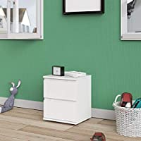 Tvilum Particle Board Nova Night Stand, 71092, White, H48.2 x W40.2 x D34 cm, DIY Assembly