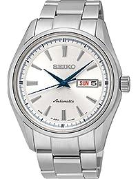 Seiko Herren-Armbanduhr Analog Automatik One Size, silberfarben, silber