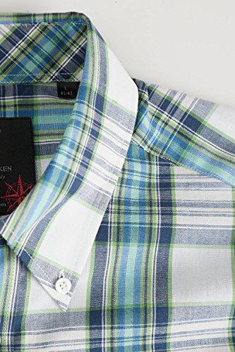 JP 1880 Homme Grandes tailles Chemise à carreaux 702455 Bleu Marine