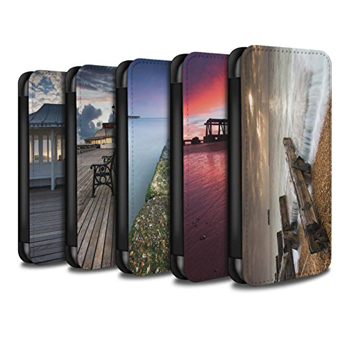 STUFF4 PU-Leder Hülle/Case/Tasche/Cover für Apple iPhone 6+/Plus 5.5 / Pavillon Theater Muster / Englische Strand Kollektion Pack 10pcs