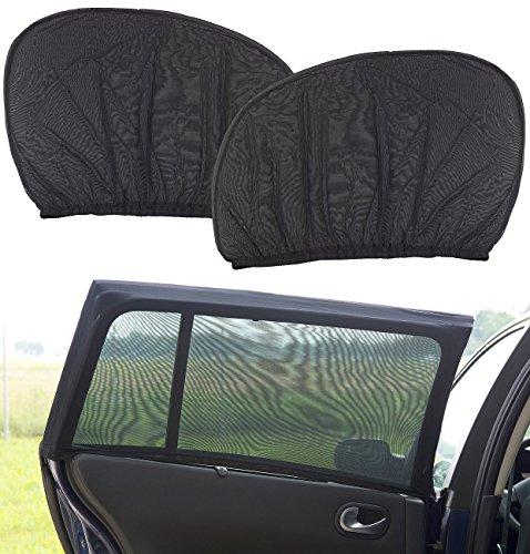 Lescars Blendschutz: 2er-Set Universal-Überzieh-Sonnenschutze für Auto-Seitenscheiben (Sonnenschutz fürs Auto)