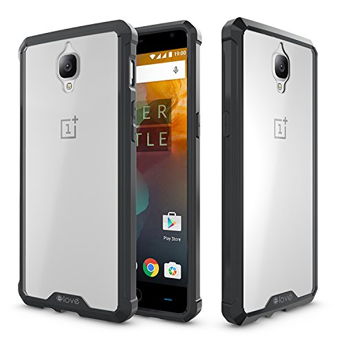 OnePlus 3 Case, elove OnePlus 3 [Crystal Clear Back] Soft Silicon Gel TPU + Hard PC [Shock Absorbing] [Light-weight] [Scratch Proof] [Slim-Fit] Bumper Case Cover for OnePlus 3 - Black  available at amazon for Rs.199