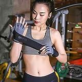 VIWIV Fitness-Handschuhe Trainieren Langes Armband Frühsommerdünn Atmungsbeständig Hantel-Resistente Hanteltrainrad Gegen Sch