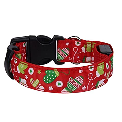 Pet Halsband, Transer® New Fashion Merry Christmas Pets Halskette Hunde/Katzen verstellbar Halsbänder/Halsbänder für Xmas Design Halsbänder für Dekoration/Kleid Up (rot)