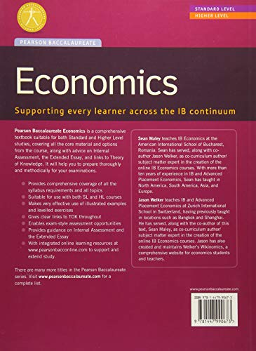 Pearson Baccalaureate: Economics new bundle (not pack) (Pearson International Baccalaureate Diploma: International Editions)