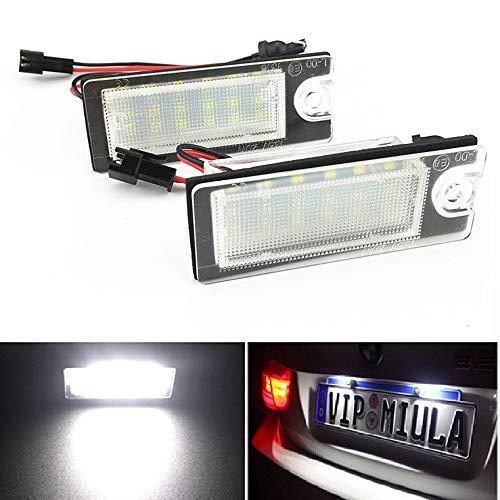 2 luci a LED per targa auto per Vo Lvo V70 (2001-2007) CX70 (2001-2006) S60 (2001-2006) S80 (1999-2006)