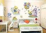 ufengke Comic-Tiere Park Niedliche Bären und Elefanten Wandsticker, Kinderzimmer Babyzimmer Entfernbare Wandtattoos Wandbilder